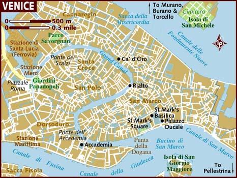 Mapa Venecia.
