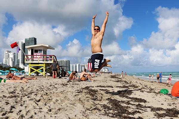 jump south beach Miami.