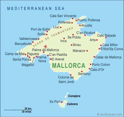 Andorreando mapa Mallorca.