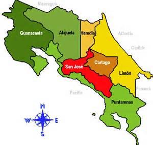 Andorreando mapa Costa Rica