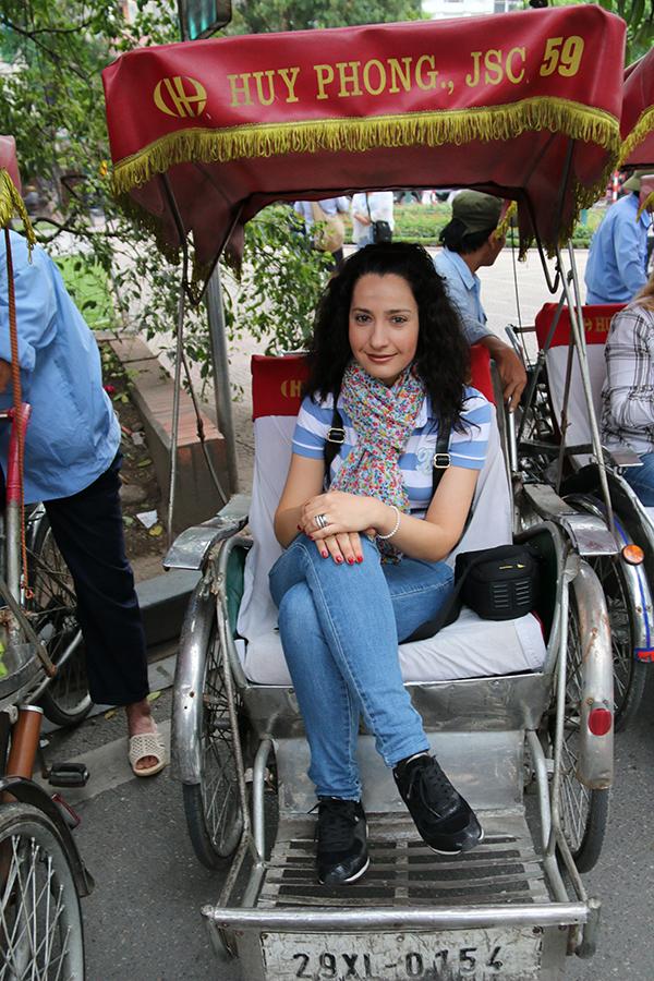 paseo en triciclo Hanoi