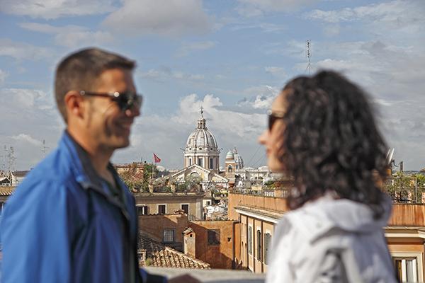 Vistas Desde La Plaza España Roma..