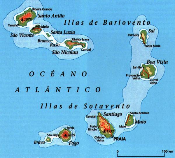 Andorreando Mapa de Cabo Verde