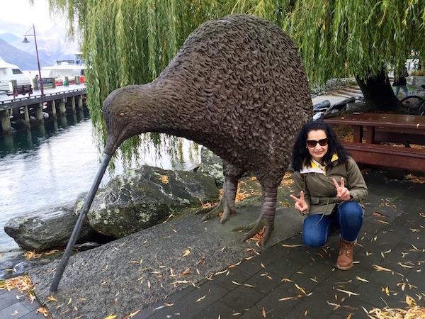 Escultura Kiwi-Andorreando por el Mundo