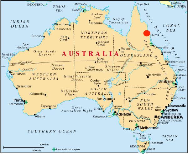 Qu visitar ver y hacer en cairns australia andorreando por el australia mapa gumiabroncs Gallery