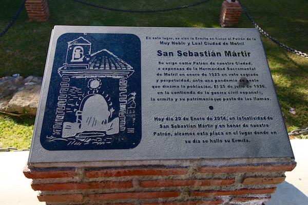 Placa Conmemorativa San Sebastián Mártir
