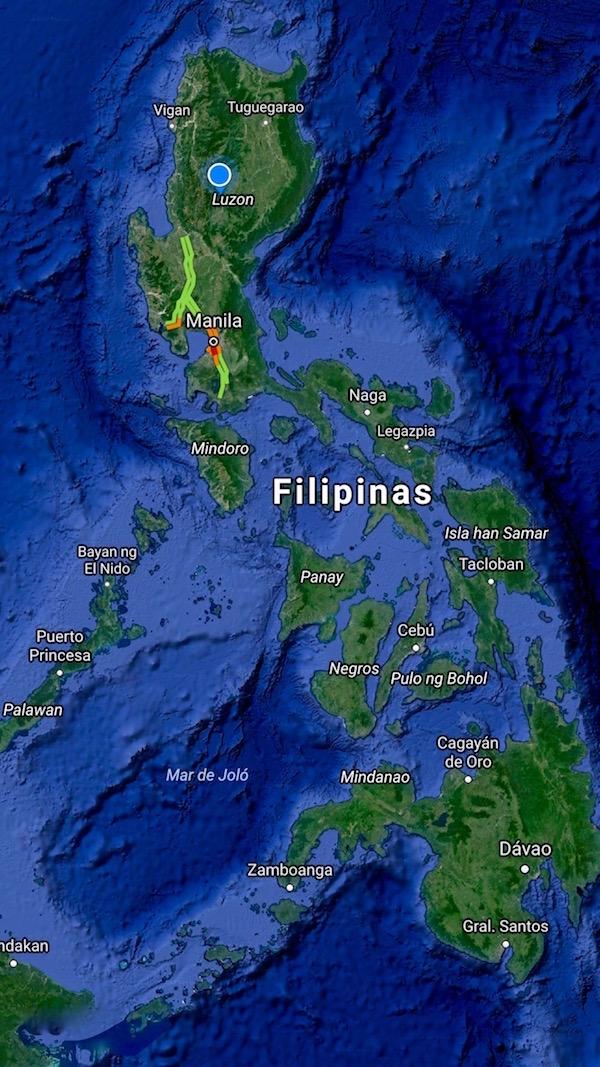 Mapa Islas Filipinas