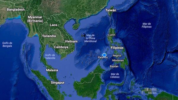 Mapa Palawan