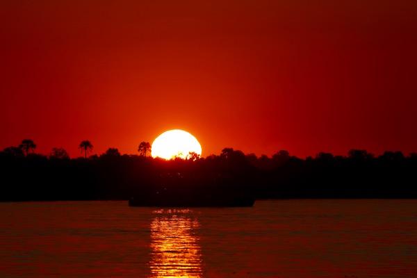 Atardecer río Zambeze