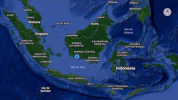 Mapa Isla Borneo