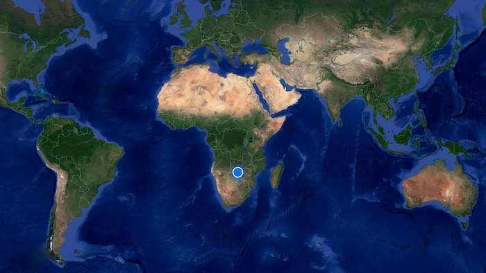 Mapa Zimbabwe