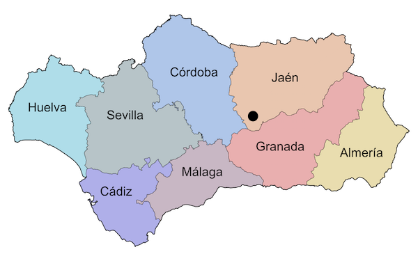 Mapa Jaén, Alcalá la Real