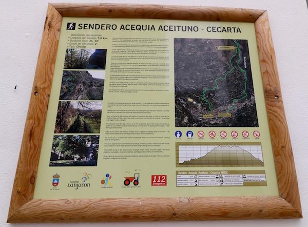 Sendero Acequia aceituno Cecarta