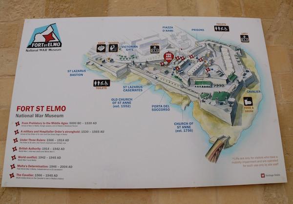 Mapa Fortificación San Telmo