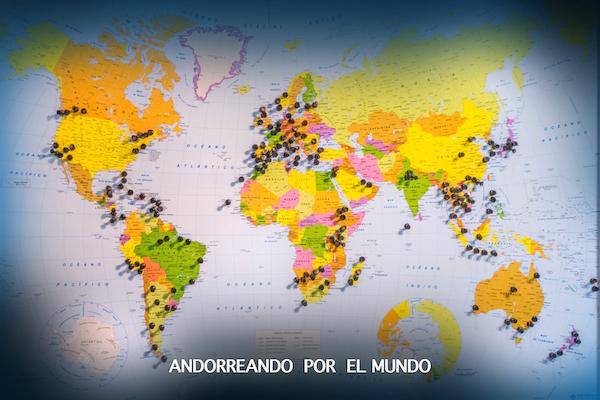 Mapa Andorreando por el Mundo