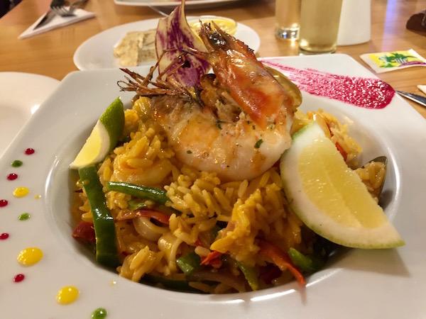 Arroz marinero ecuatoriano, restaurante Miskay.