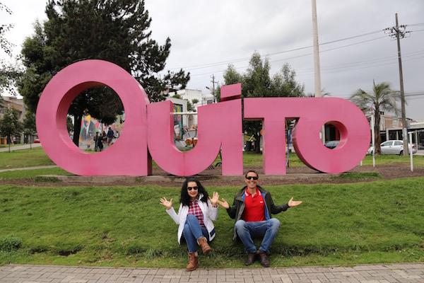 Letras Quito en el Parque Navarro.