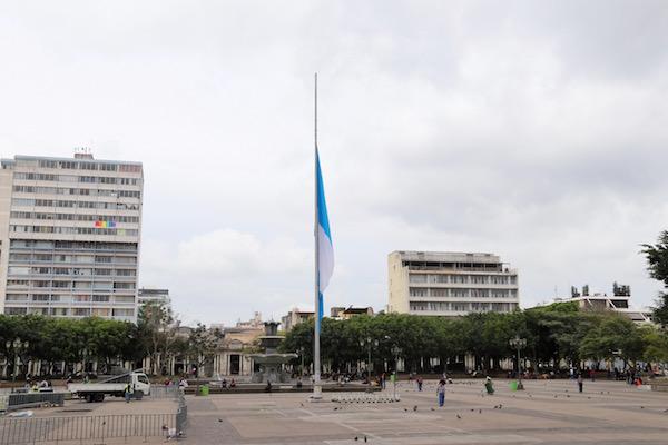 Mástil bandera Guatemala.
