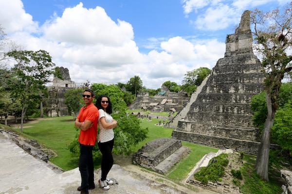 Vista a la Gran Plaza, Parque Nacional Tikal.